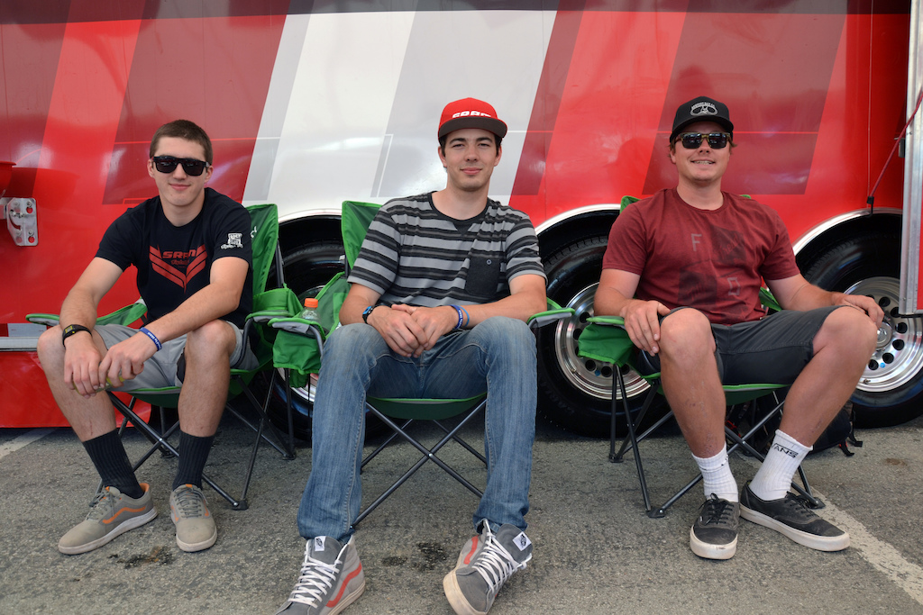 The Shaw brothers and Kyle Strait were taking a rest day today all the guys will be racing both dual slalom and DH this week.