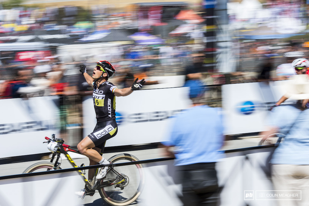 0f2fc1fa013 Nino Schurter proved the worth of that number one plate on his bike.