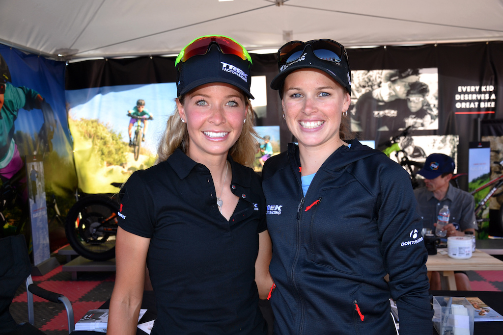 Trek s Emily Batty and Bec Henderson were hanging out at the booth signing autographs today.
