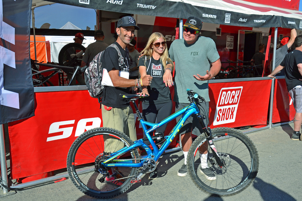 Back in the day Zap then at Mountain Bike Action featured a 10 year old Rachel Throop in what was her first ever magazine appearance. Rachel s all grown up now racing enduro professionally and is recently engaged to Kyle Strait. Looks like Kyle isn t sure why Rachel said yes though. Congrats