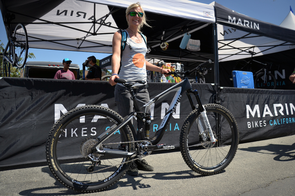 YOu might remember Marin rider Julia Hoffman from her internet famous My Landy edit. Julia came all the way from Germany for her first Sea Otter Classic and to check out the Marin offices. She s not racing this weekend but she did have her carbon Marin Attack Trail with her which she will be racing the Colorado and Whistler EWS races on later in the year.