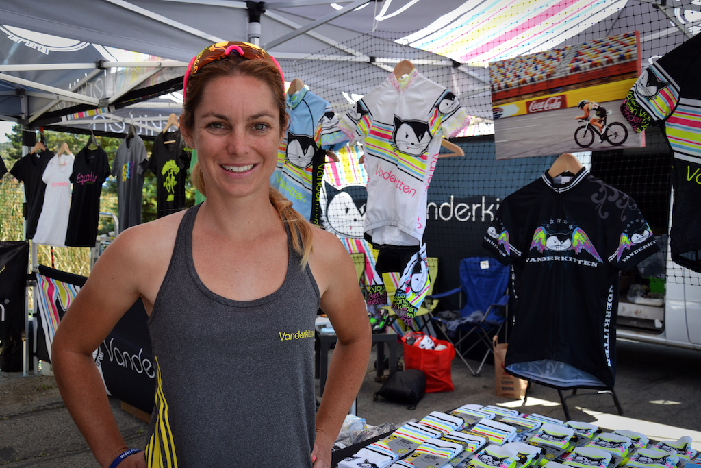 Vanderkitten is a women s specific clothing company with a racing problem. Caroline Dezendorf was pumped with a top ten finish in her first pro enduro race here at the Sea Otter Classic.