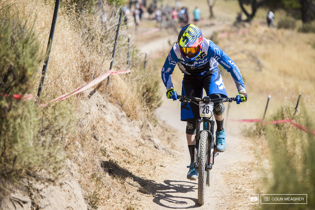Josh Carlson of Giant has served notice that he s back up to pace after a couple injury plagued seasons of EWS racing.