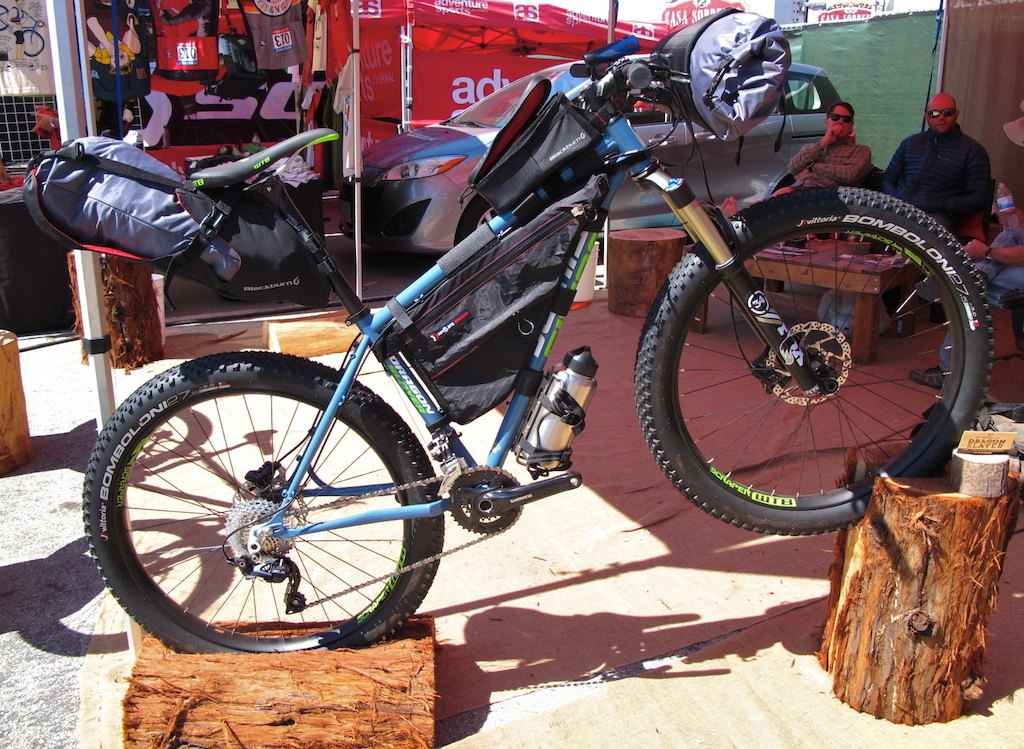Meet the Dragon Slayer 27.5 offering from Jamis that is aimed at the bike touring marketplace. Blackburn also equipped all the bags on this bike.