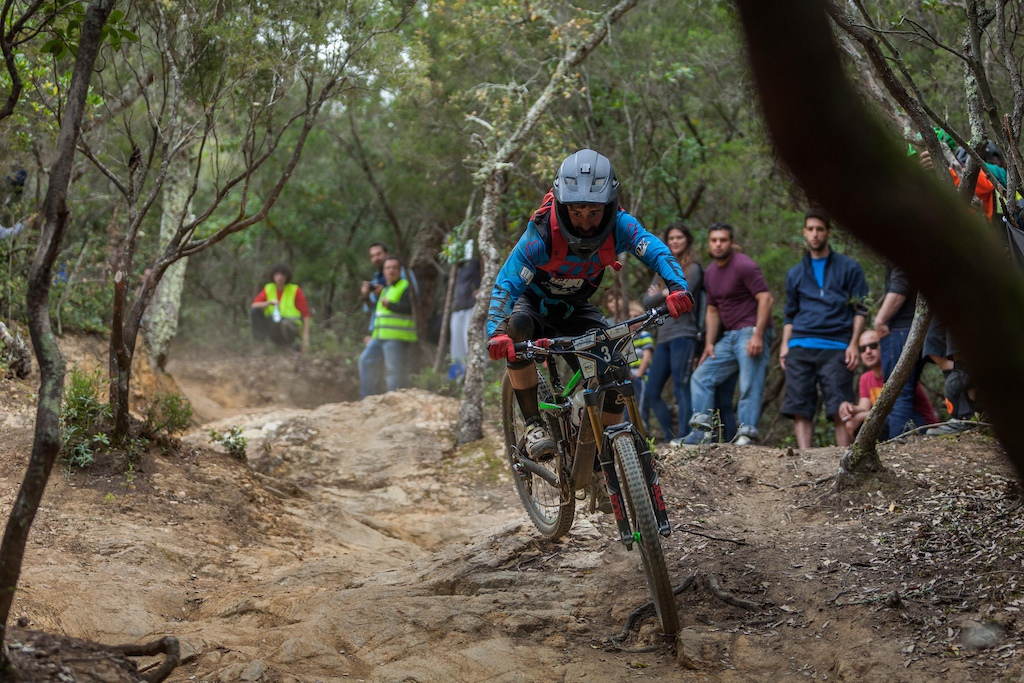 Robert Williams from UK races down the stage 4 during the first stop of the European Enduro Series in Punta Ala, Italy, on April 26, 2015. Free image for editorial usage only: Photo by Antonio Lopez Ordonez