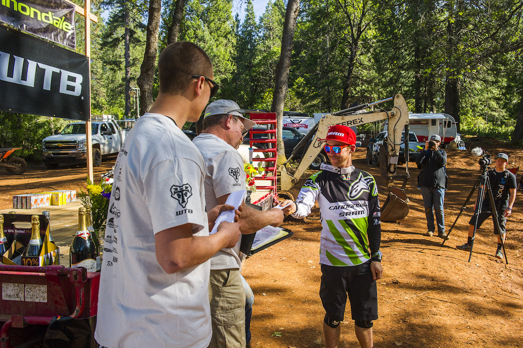 Jerome was so stoked on the trails he donated his stage win Primes back to the Ranch for trail building.