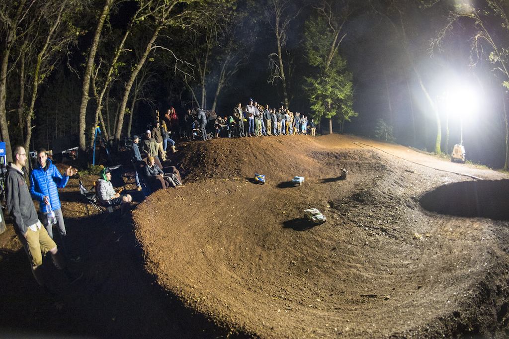 Once the bon fire was lit it was time for a late night RC car rally session.