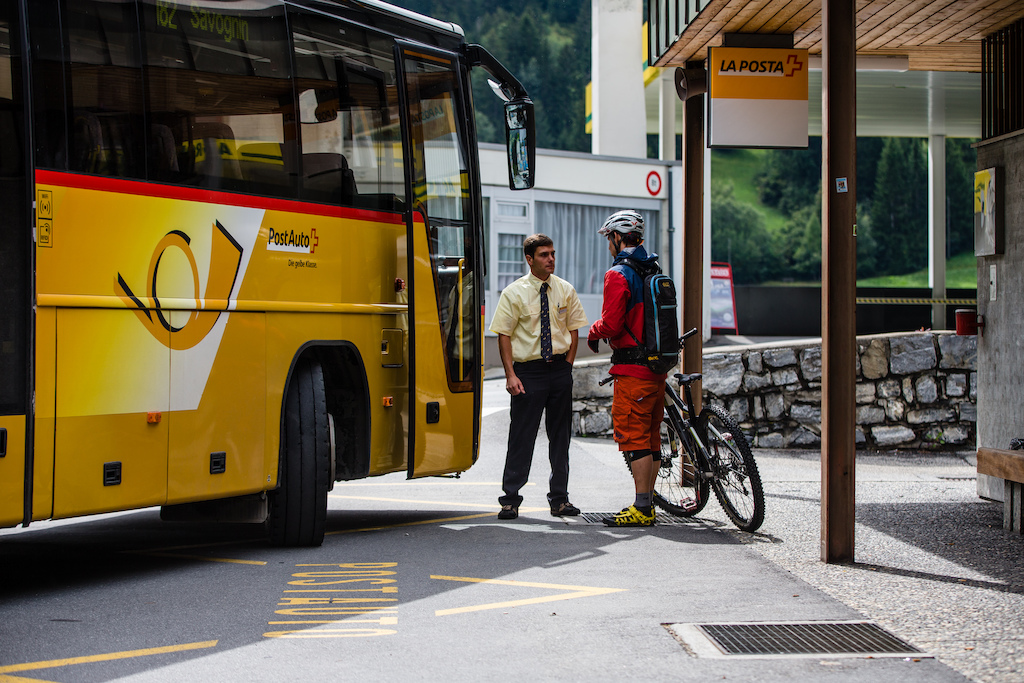 Switzerland is well known for Watches and Chocolate, but it hast also one of the best public transportation system in the world. Most of the busses have permanent bike rags.