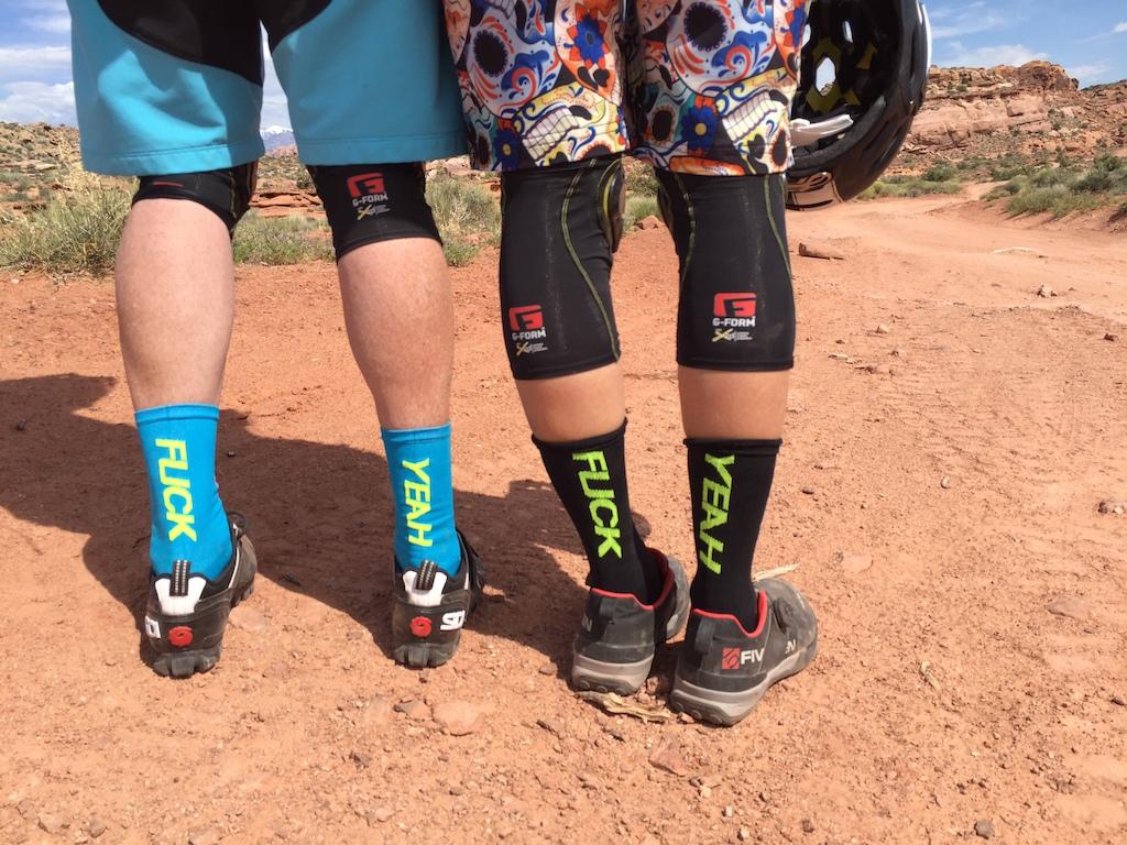 The socks say it all!