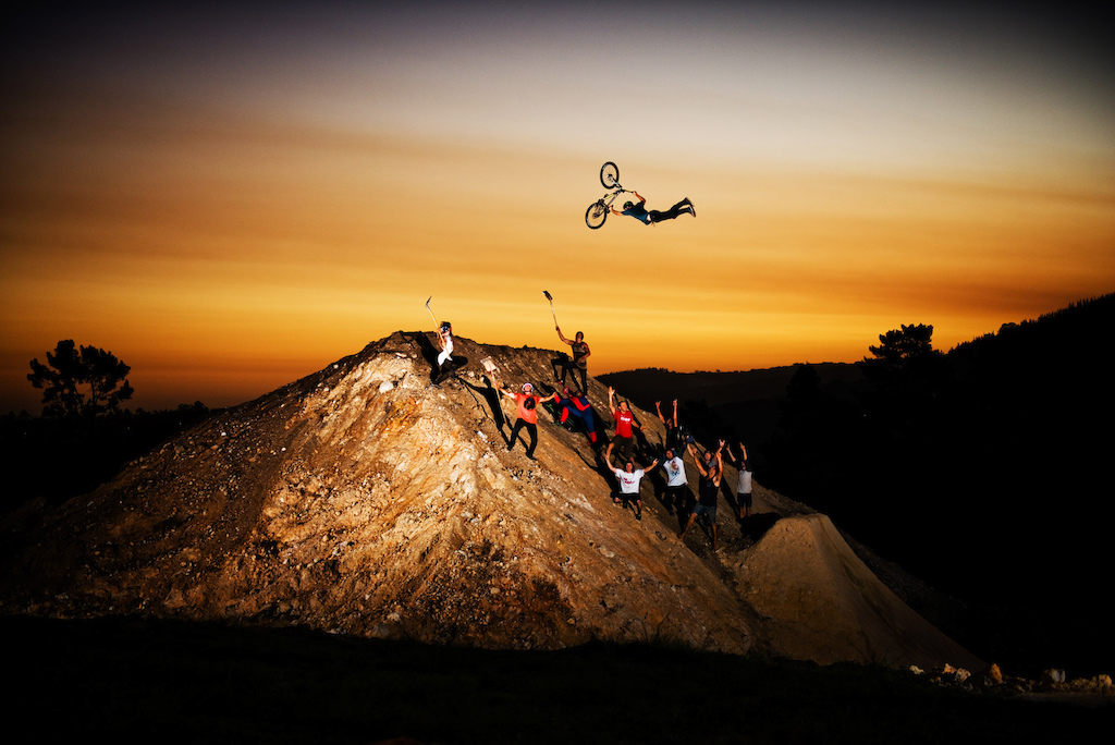 Well this pretty much sums up the Pure Darkness week. A bunch of mates who like to do things their own way slightly different from the rest of the MTB crowd. No competition just inspiring each other whilst doing what we love. Everyone stoked to work together to create the ultimate trick jump we ve always dreamed about and making it a reality. Waking up at 6am to ride before the wind and digging for 4 days solid in 40 degree heat. Thanks so much to everyone involved in making this come true however big or small part you played