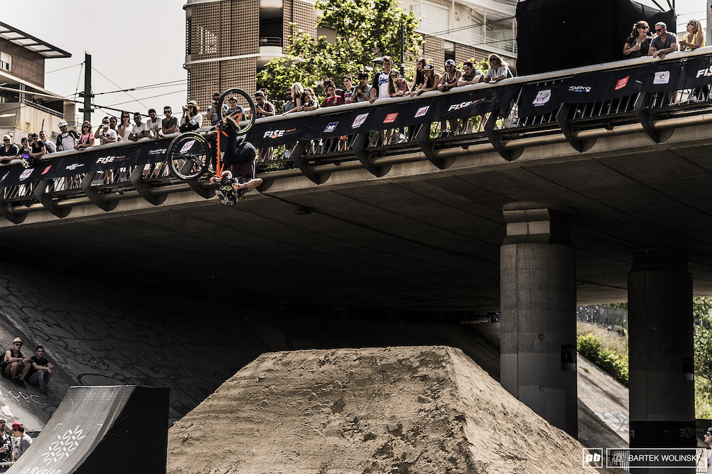 Antoine Bizet needs no introduction with his entry level tricks like this fronflip.