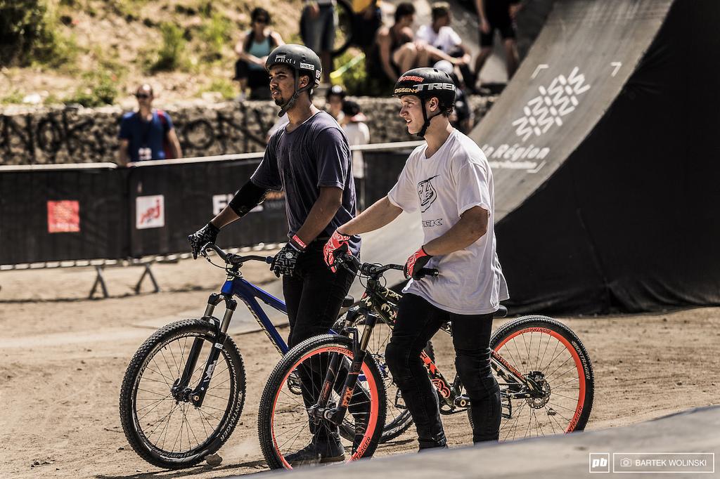 Ray and Tom repping the other part of the World at FISE. Its good to see young USA and Canada riders among the Europeans at FMB stops this year.