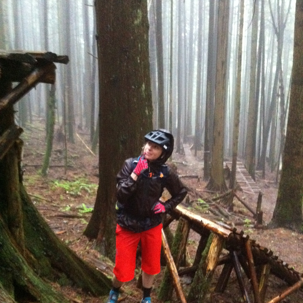 Pic 11 Fanny eyeing up the Woodlot s wooden stunts