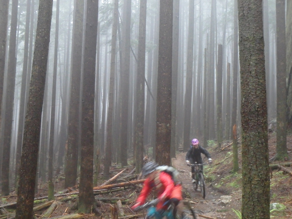 Pic 14 Riding through the mist on Bear Mountain