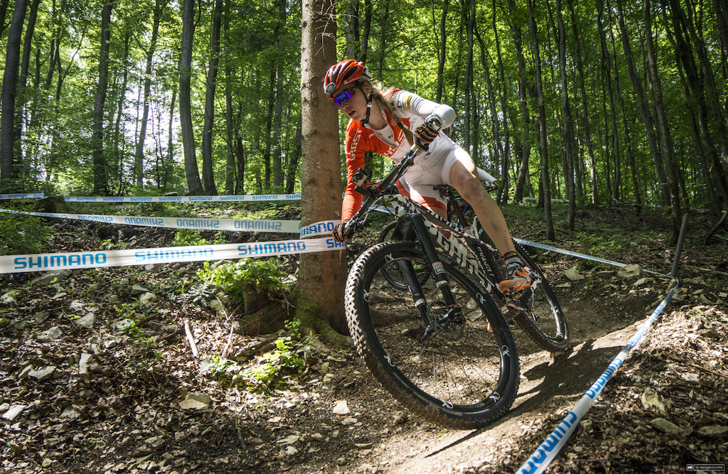 The track at Albastadt isn't the monster that Nove Mesto was. In fact, it seems tame in comparison - except that there is more climbing and eight laps for the elite men.