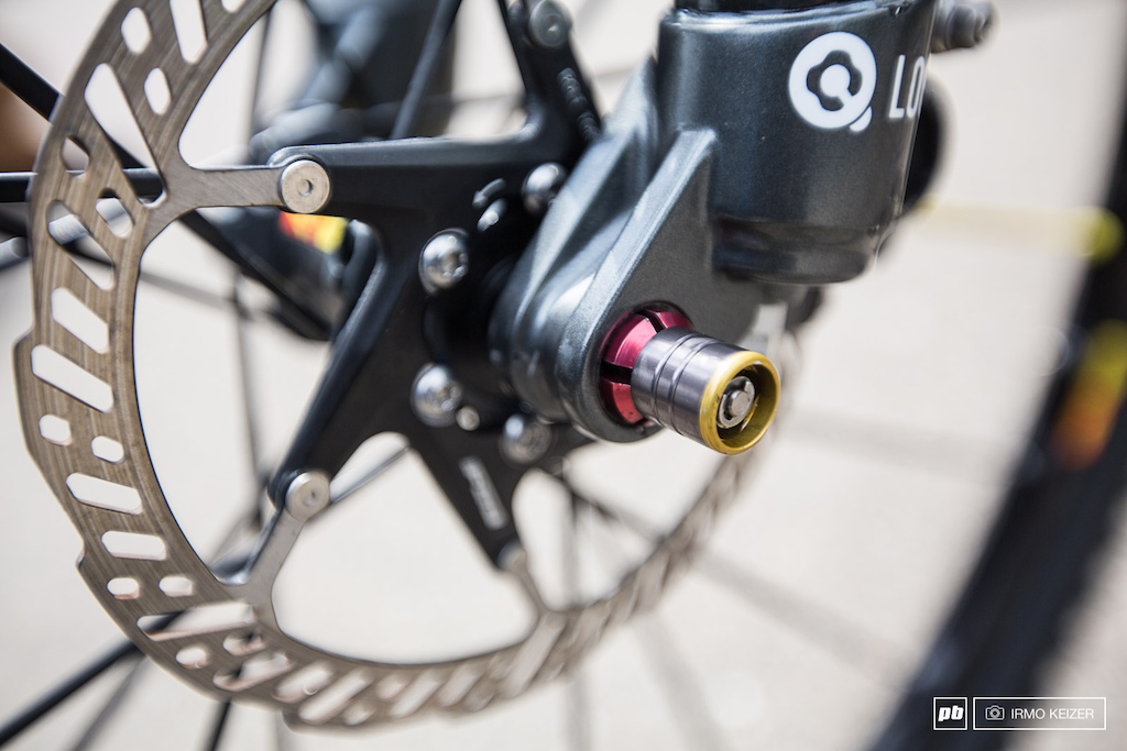 SR Suntour s solution for quicker wheel change a quarter turn quick release available for 15mm as well as 142x12.