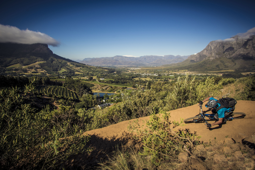 Scenic ride on a private farm above Stellenbosch