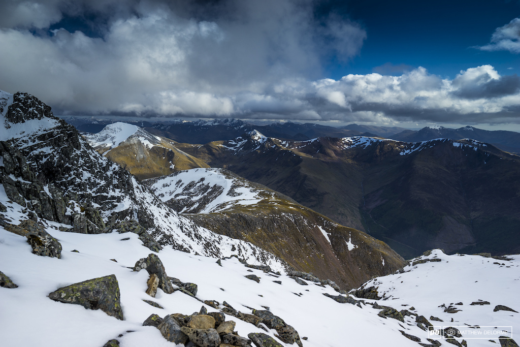 The hike up Ben Nevis affords amazing views of the Highlands.