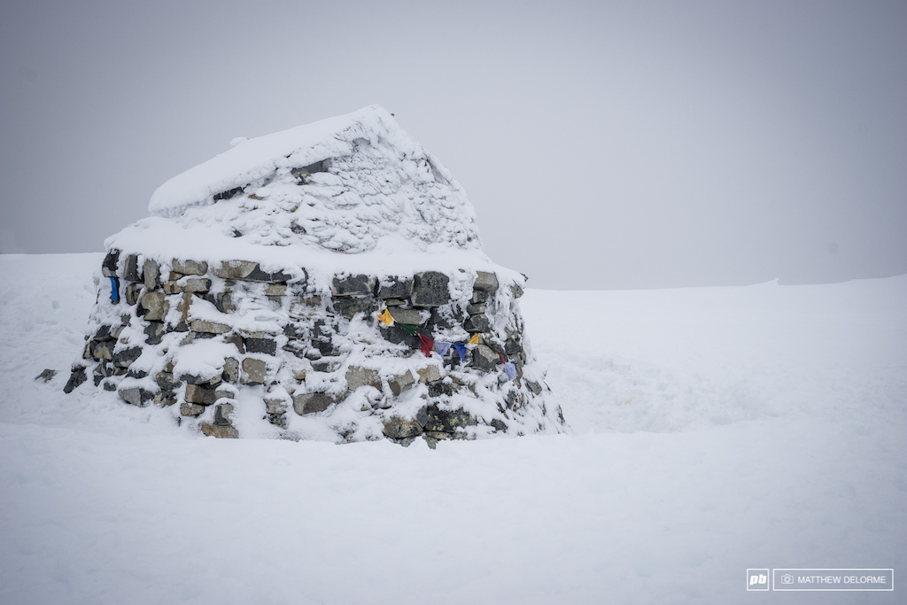 Tip top of Ben Nevis it s still full-blown winter up there. However the hike up is well worth it.