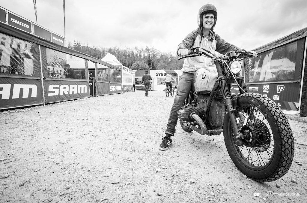 Bren Dog brought another form of magnificent two wheeled transportation to Fort William. The roar of his BMW is sublime.