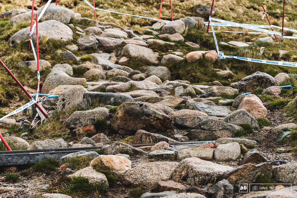After 14 years of abuse there is little to no dirt left on the upper slopes of the track.