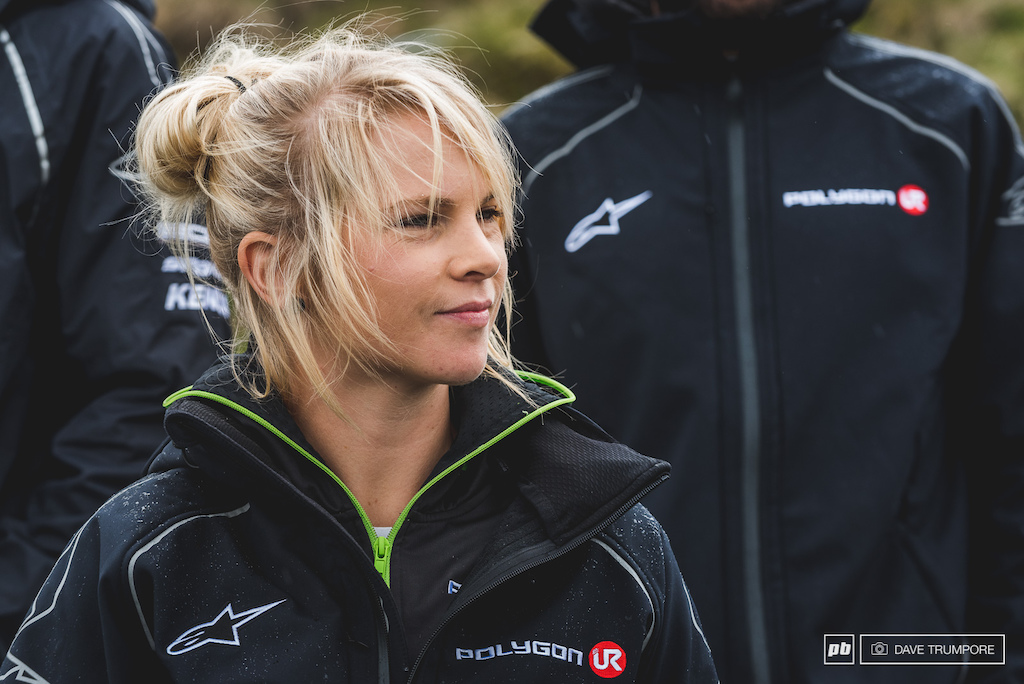 Beaming with confidence after round one Tracey Hannah can t wait to get on her bike and get down to business this weekend.