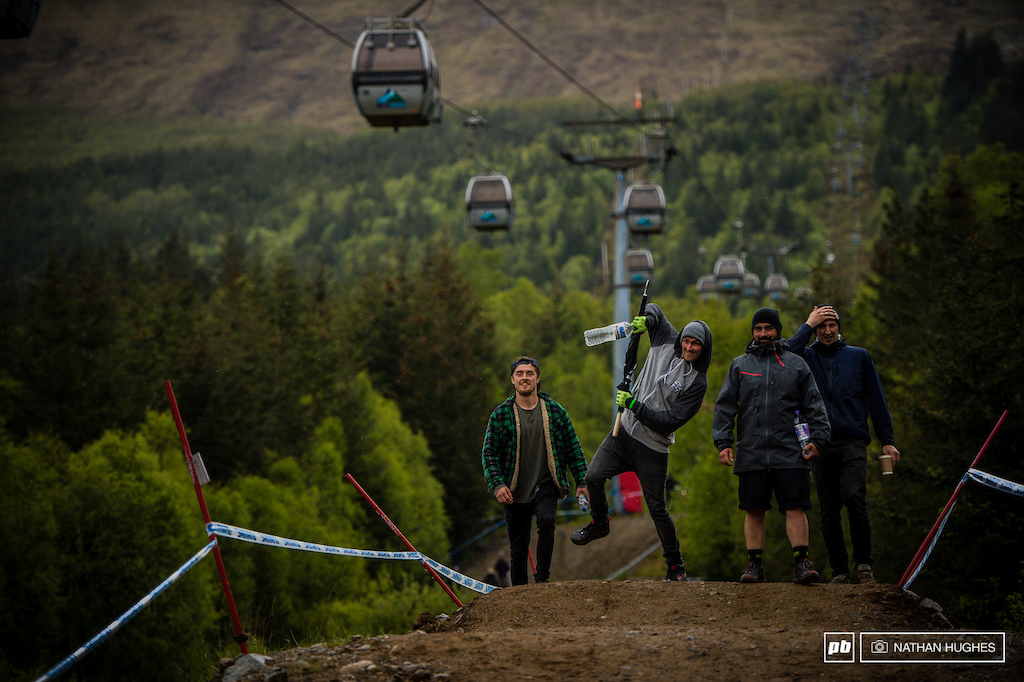 Scrublife. Brendan Ollie Wilkins and mechanic Ben have been trying to keep the fun alive... Anyone who says something negative about Scotland has to do 20 press-ups.