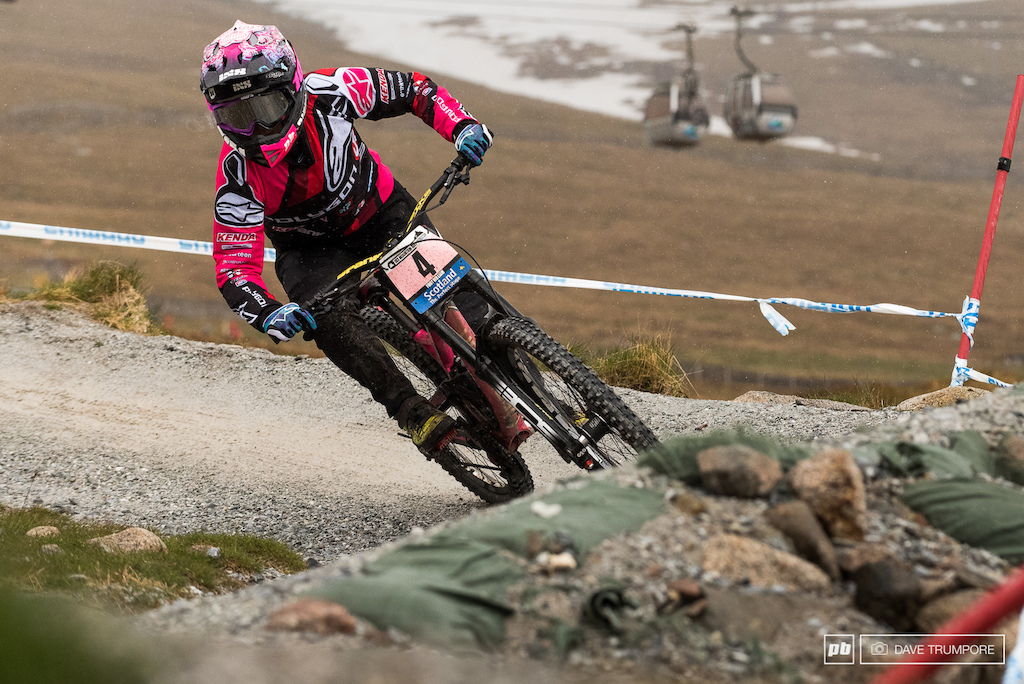 Tracey Hannah is riding Fort William with an aggression we have not previously seen from her on the Fort William track.