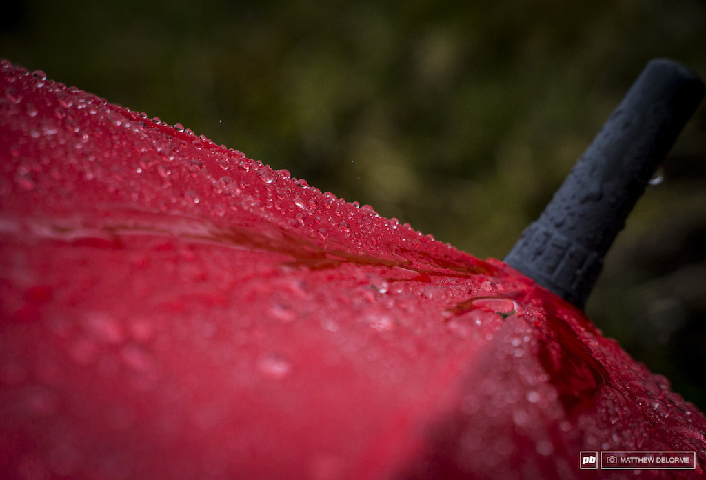 Umbrellas were the photogs best friends until the wind picked up and started tuning them all inside out.