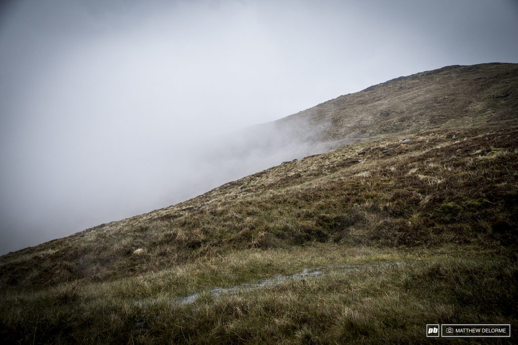 The fog rolled in and reduced visiblity to about twenty feet. When it receded, the heavy rains kicked in.