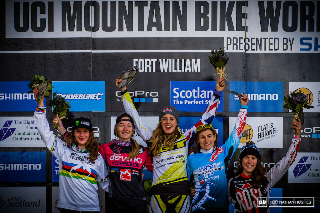 Four British women out of five on the Fort William podium for 2015.