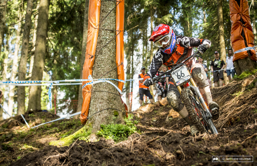 Neko Mullaly will be looking to get a solid result here in Leogang. The New sections of track are suited to his style.