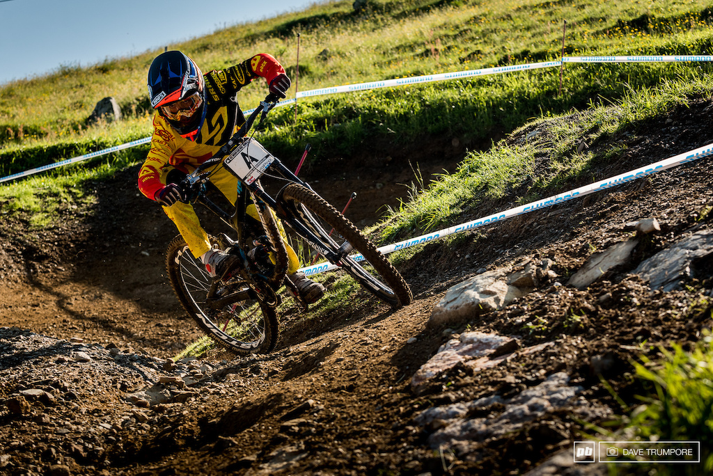 Finn Isles is here as a pre runner since he is still too young to race at the World Cup level. Training and traveling with his Lapierre teammates should help him to have to have a bit of an edge when he lines up in the start gate for real next season.
