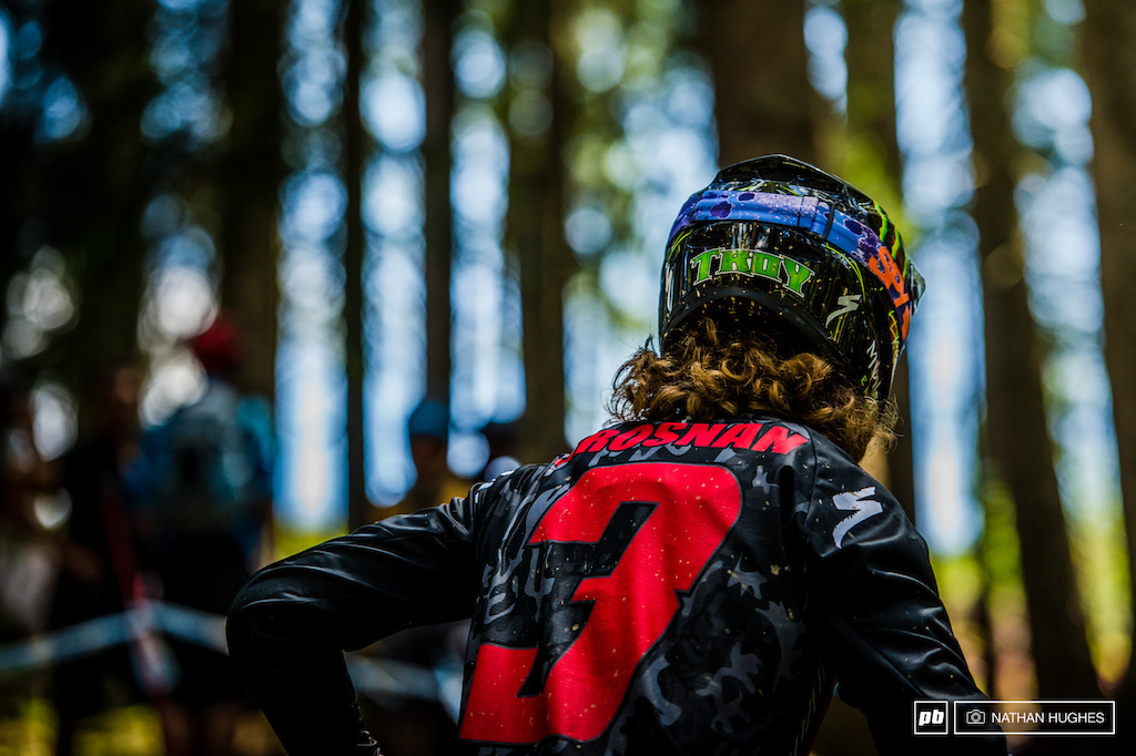 Troy spent a long time pushing the woods today well aware that much like Fort William the brief woods section will be make or break for this race.