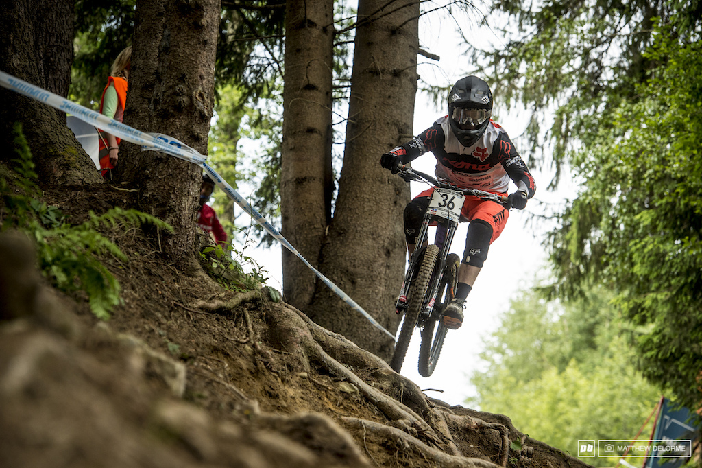 Connor Fearon has had some solid results at Leogang before. Today the Aussie was on a ripper and qualified second.