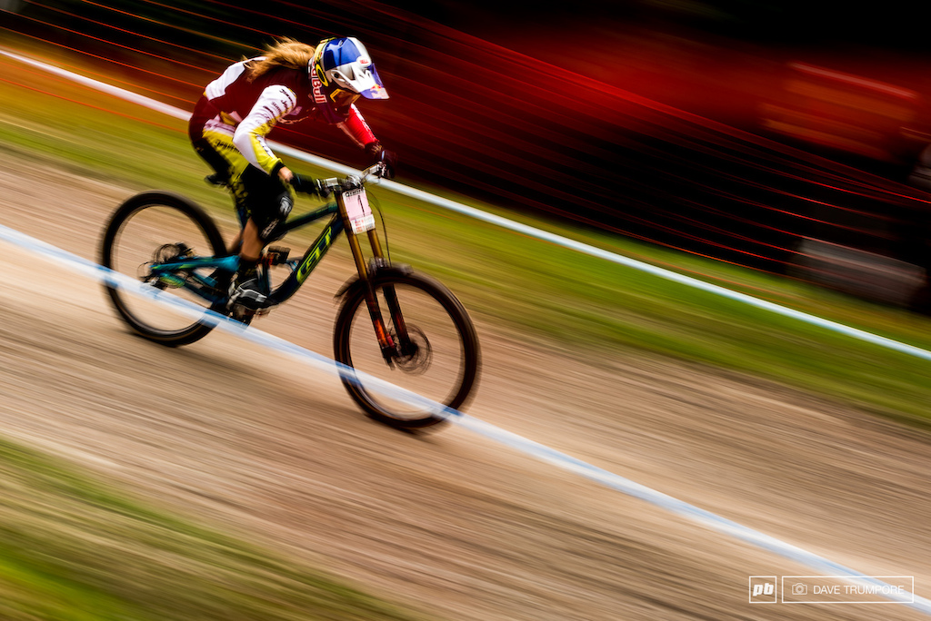 With back to back wins Rachel Atherton now has a commanding lead on the World Cup series.