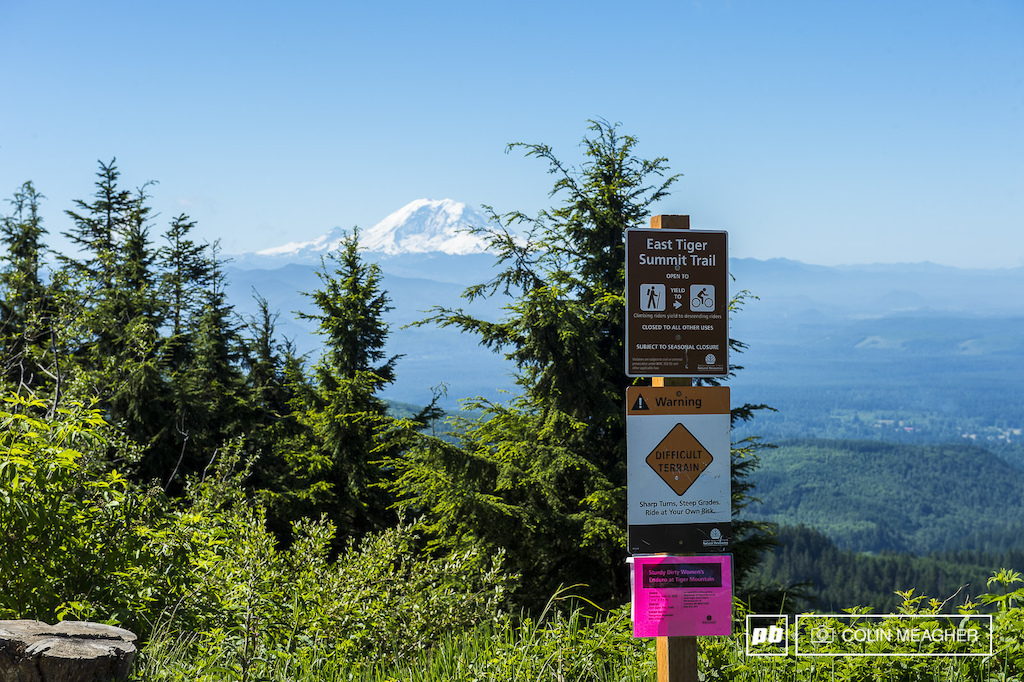 Once at the top racers were greeted with a stunning view of Mt Rainier s 14 441 high peak.