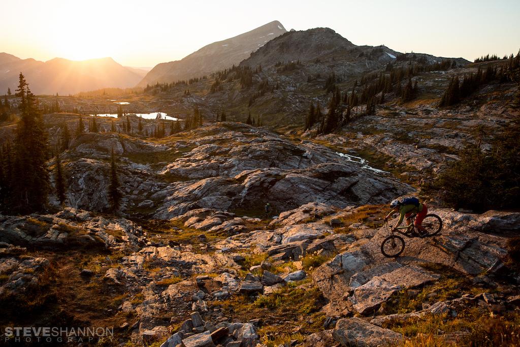Alpine rock slabs at Sol Mountain Lodge.