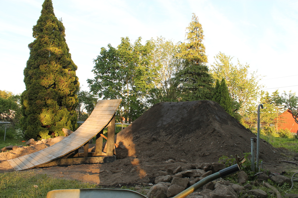 Finally bulid a jump in my yard :)