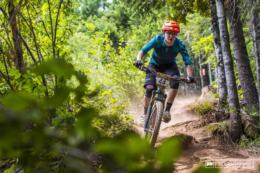 Yeti rider Kim Russell had local knowledge on her side coming home to take third overall.