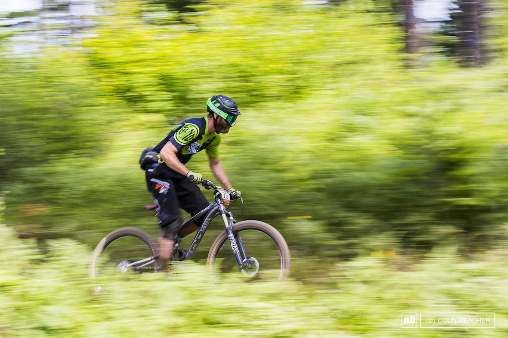 Rex Shepard going soenduro with the goggles on stage 4. Laugh all you want about riding a half lid with goggles but given all the dust on the track goggles were a must if you were closing down on your minute man or riding in a group on some of the transfers.