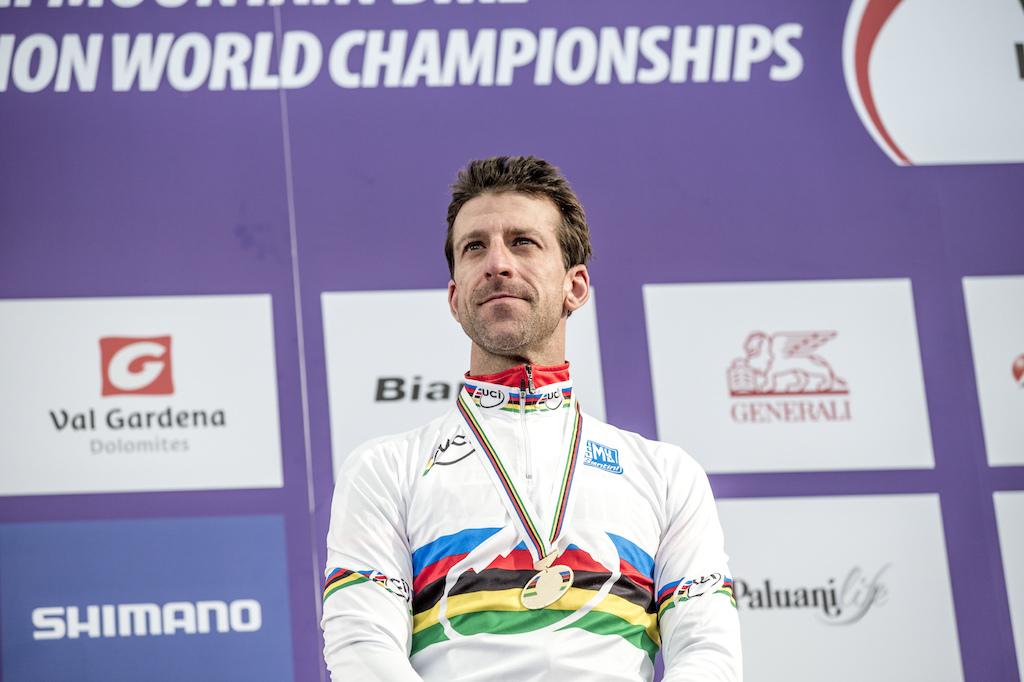 Proud gold medallist..