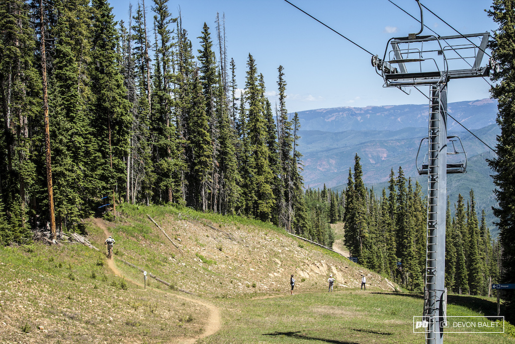 Stage one sent racers to Aspen and the Power of One trail. Aspen Mountain is hugely popular for uphill hikers and downhill bikers.