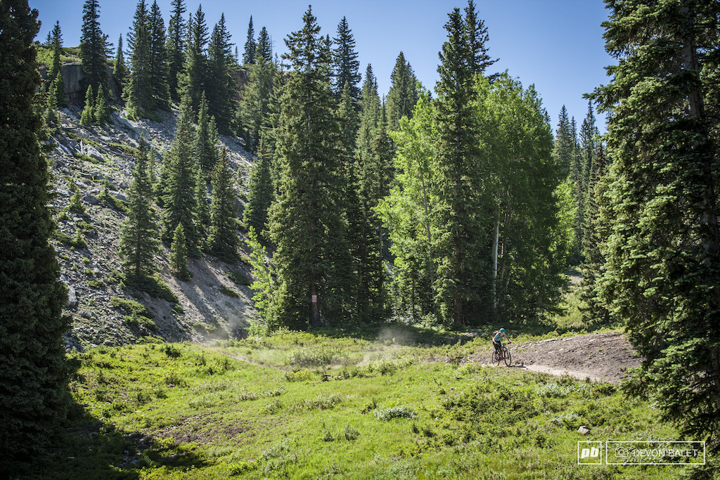 Stage four of six sent racers from the very top of Snowmass Resort and the longest stage of the weekend.