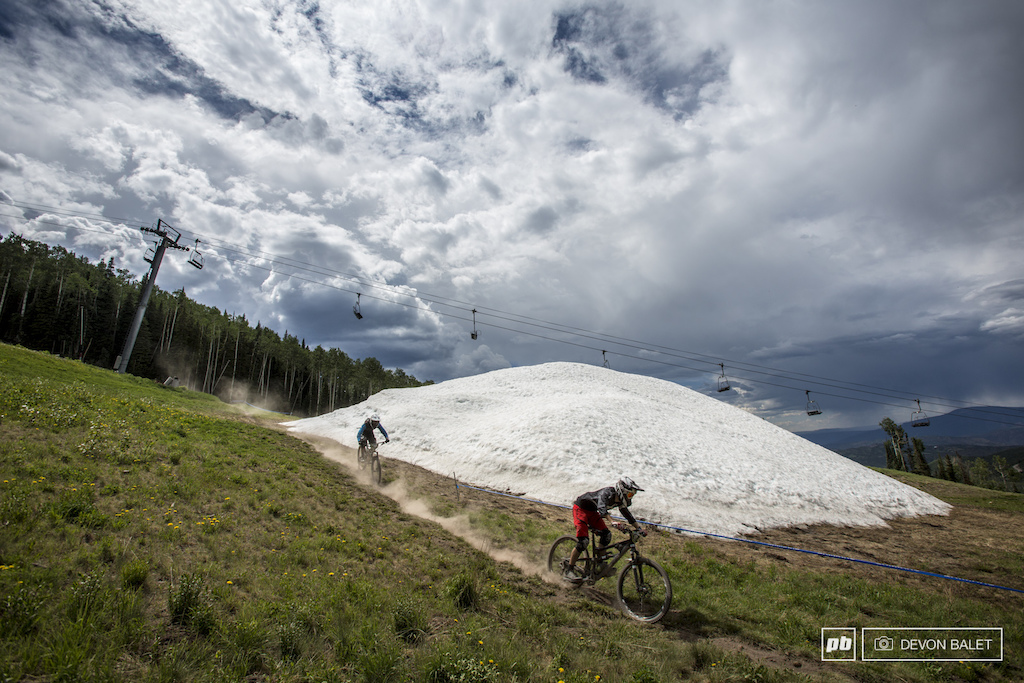 Still plenty of snow hanging around on Snowmass Mountain.