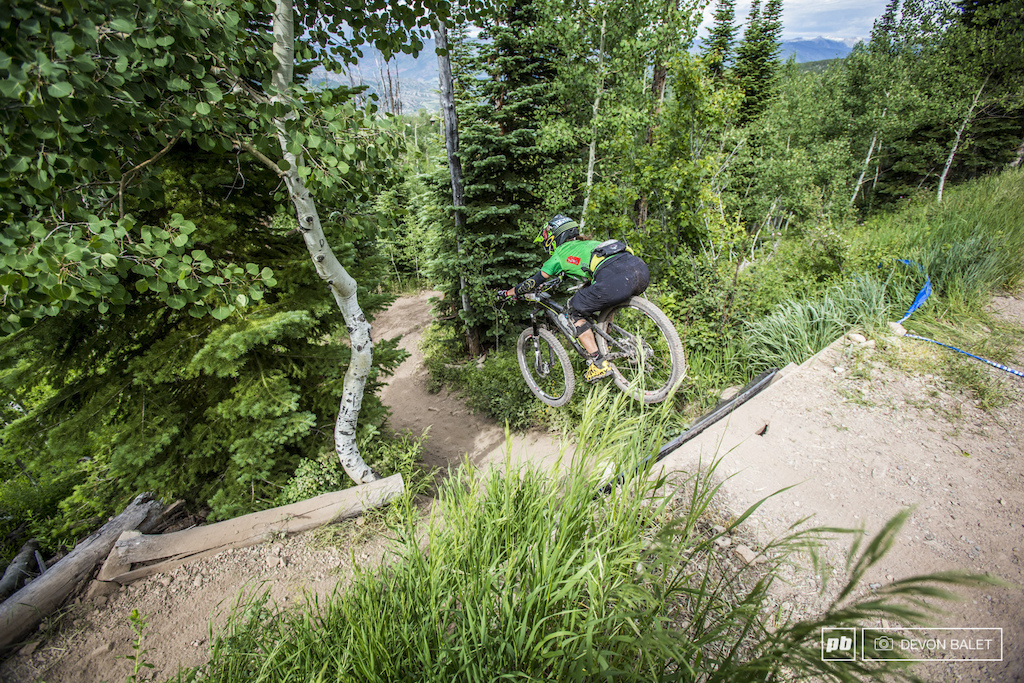 One of only a few of the Pro Women to send the road drop on Bonsai DH Krista Park is stoked to be back on the bike and healthy again