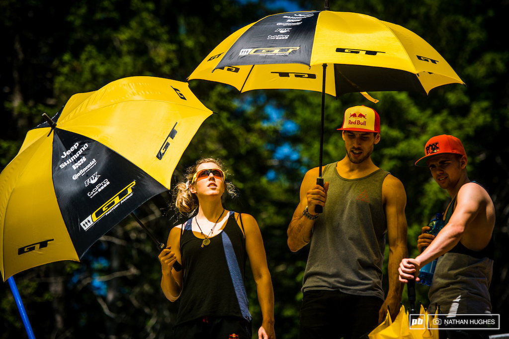 Sunbrellas all round for Atherton Racing.