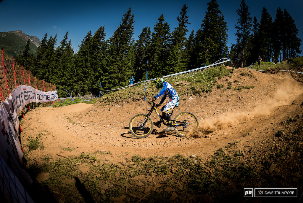 Sam Hill, foot out and a meter inside everyone else's line