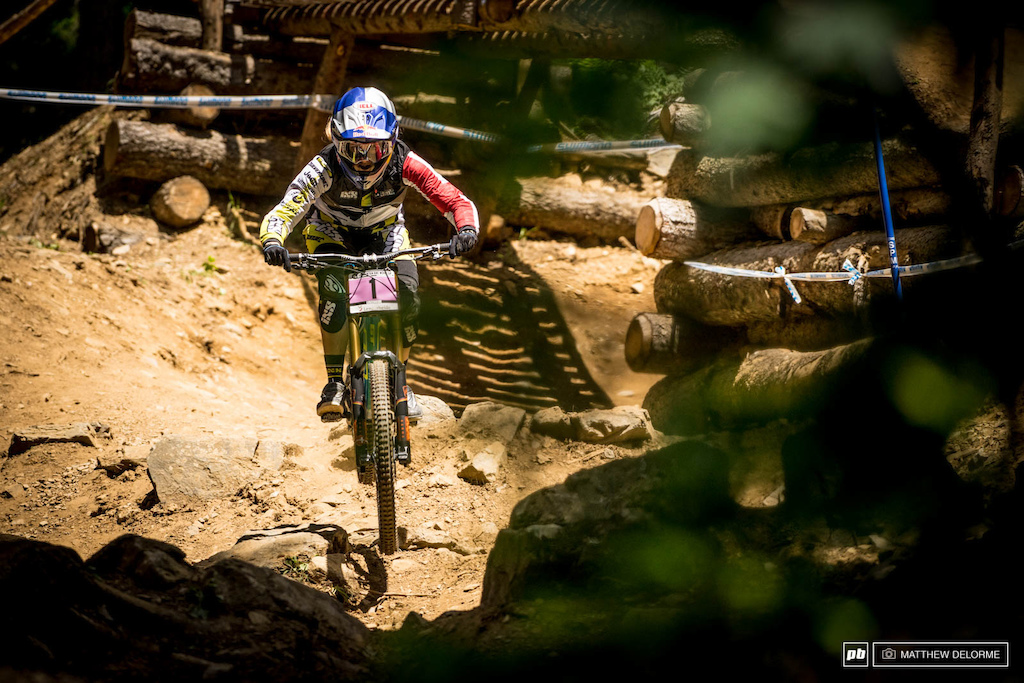 Rachel Atherton qualified second today two seconds and change off of Ragot. At this point this one might be too close to call.