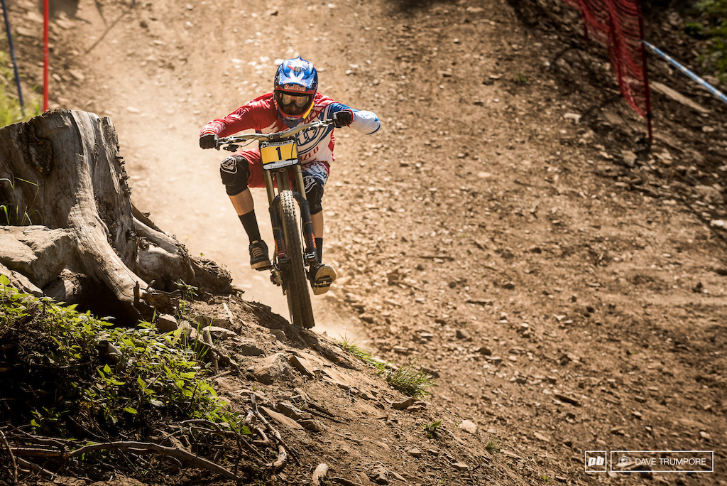 Aaron Gwin at 66 kilometers per hour was the fastest through the speed trap and second fastest on the clock in qualifying